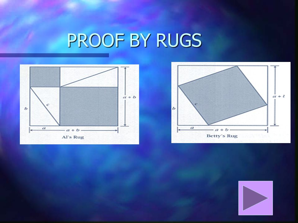 PROOF BY RUGS