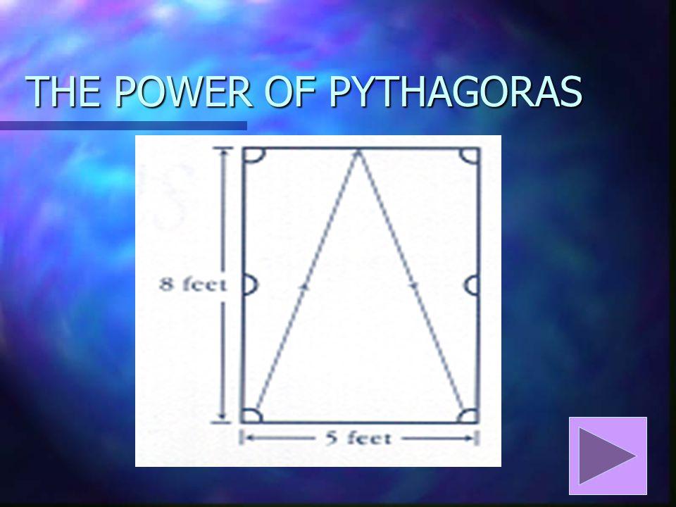 THE POWER OF PYTHAGORAS