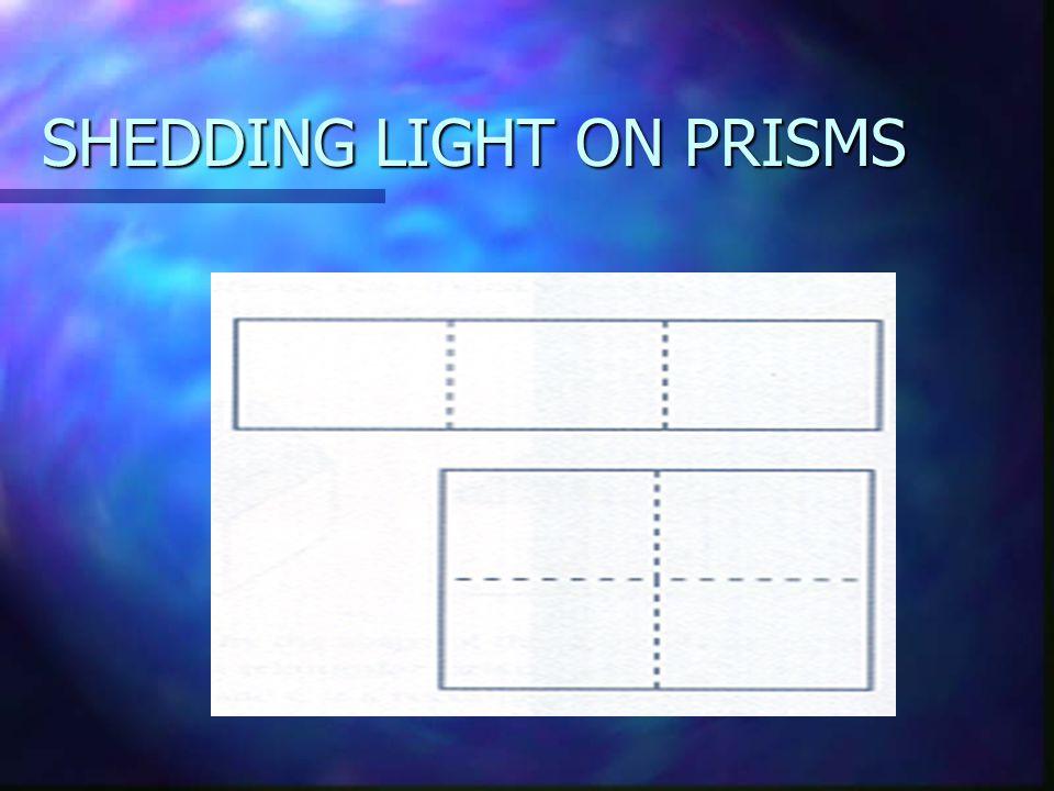 SHEDDING LIGHT ON PRISMS