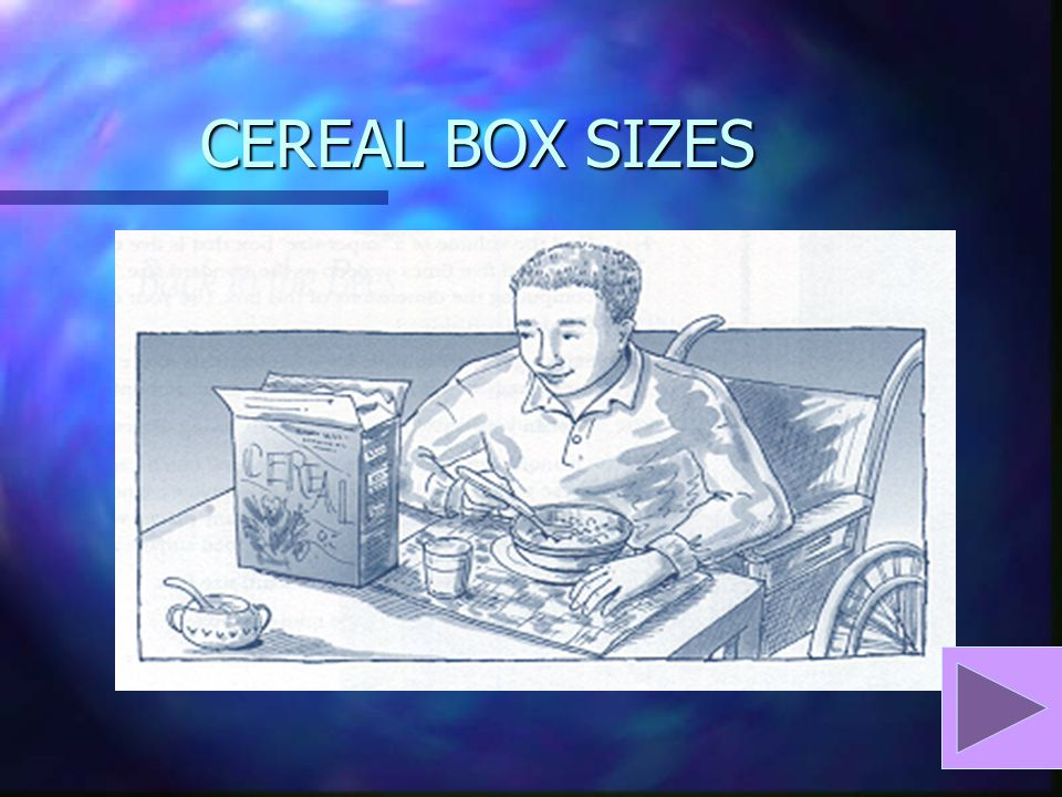 CEREAL BOX SIZES