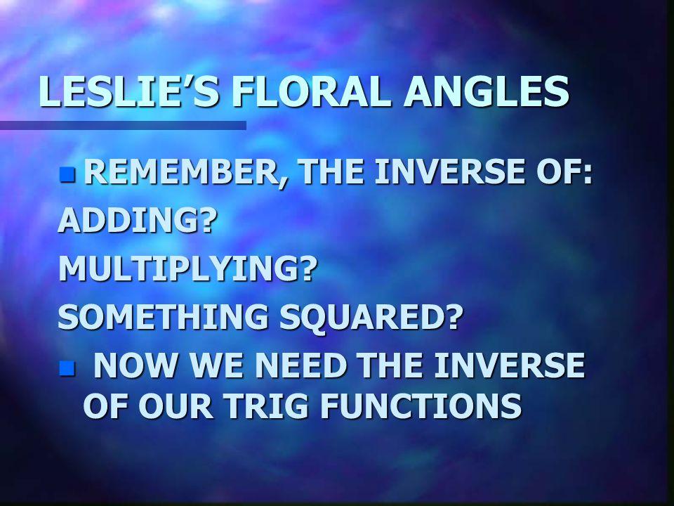 LESLIE'S FLORAL ANGLES