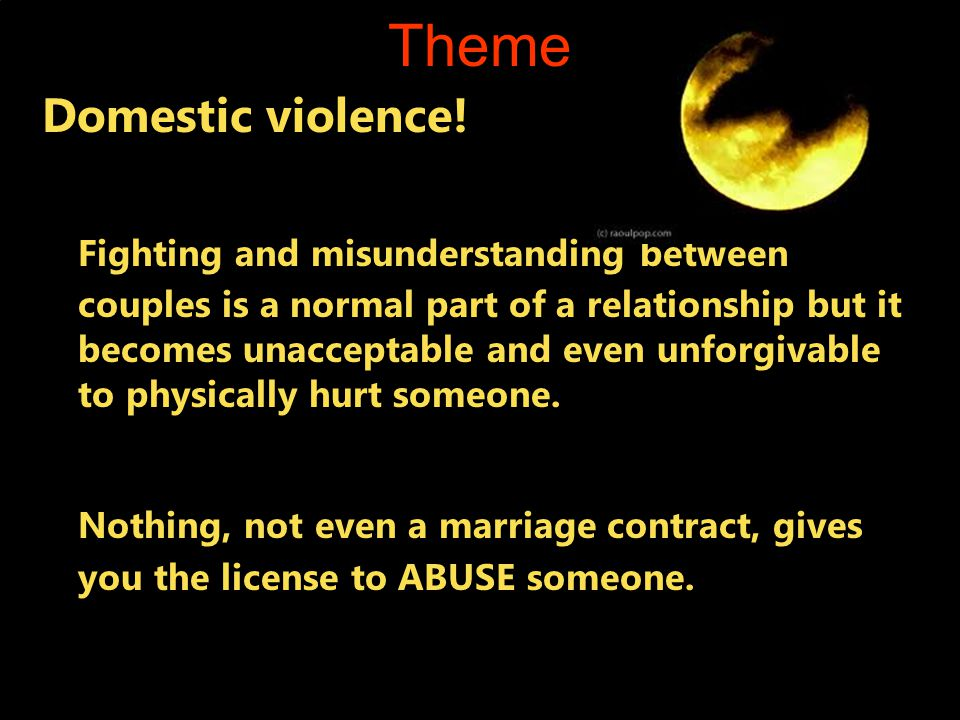 Theme Domestic violence!
