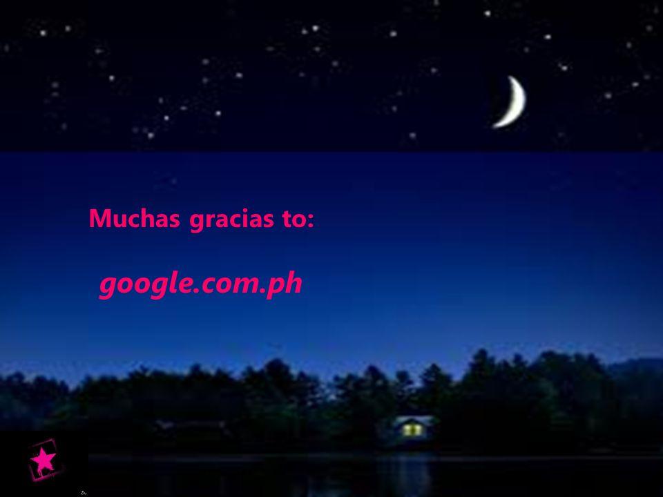 Muchas gracias to: google.com.ph