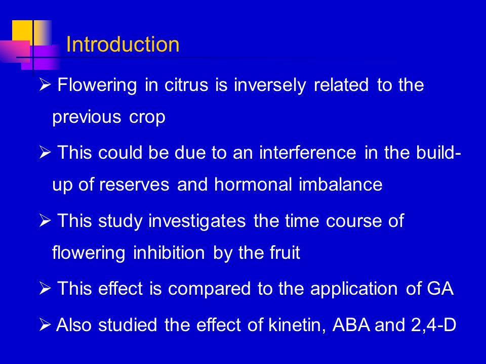 Introduction Flowering in citrus is inversely related to the previous crop.