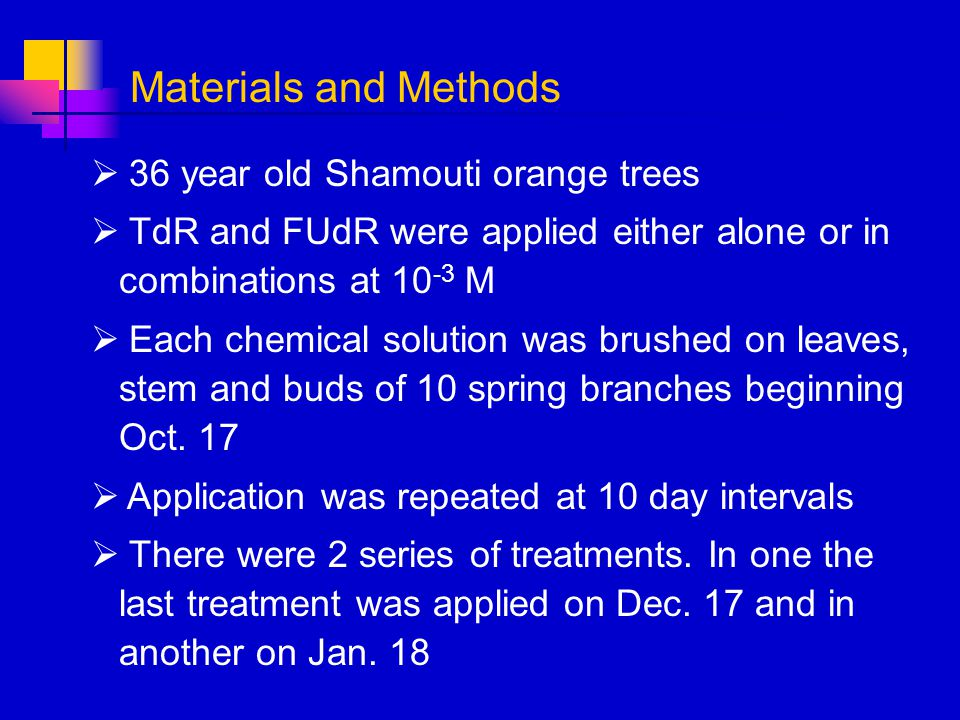 Materials and Methods 36 year old Shamouti orange trees