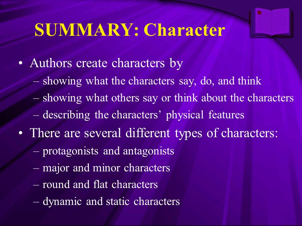 SUMMARY: Character Authors create characters by
