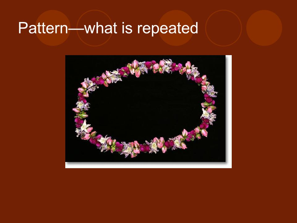 Pattern—what is repeated