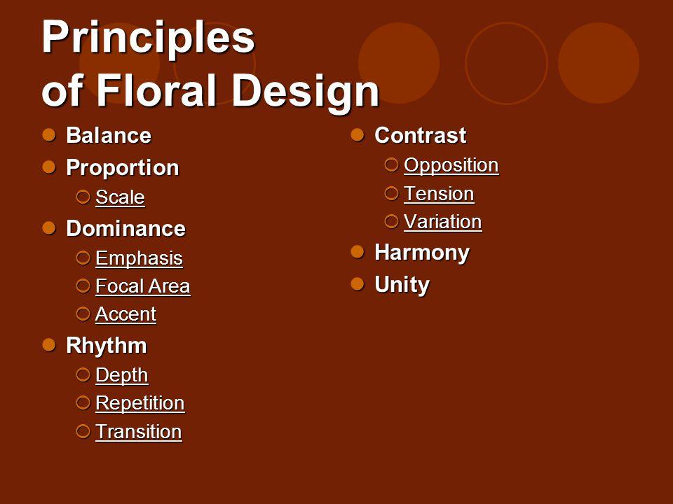 Principles of Floral Design