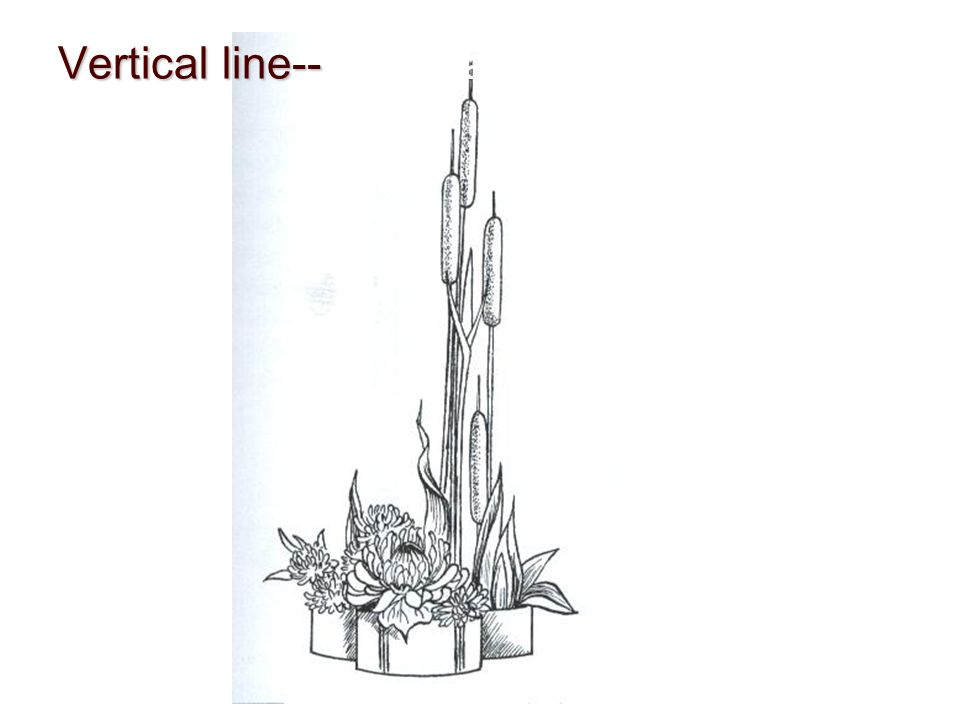 Vertical line--Power and strength
