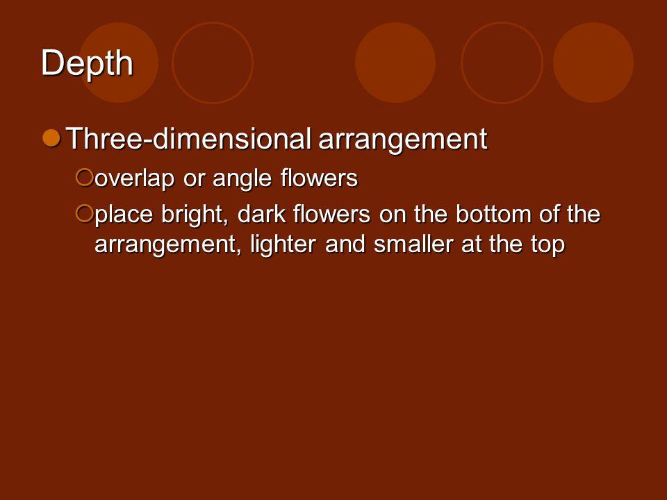 Depth Three-dimensional arrangement overlap or angle flowers