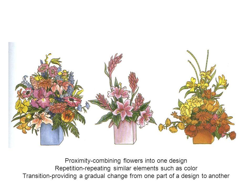 Proximity-combining flowers into one design