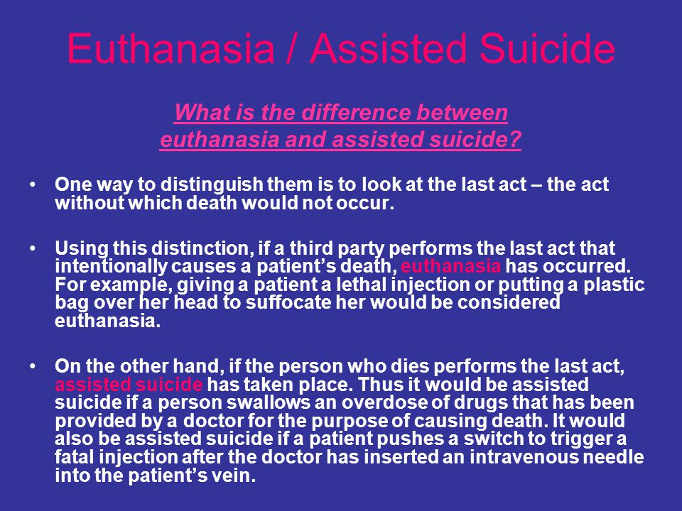 Euthanasia / Assisted Suicide
