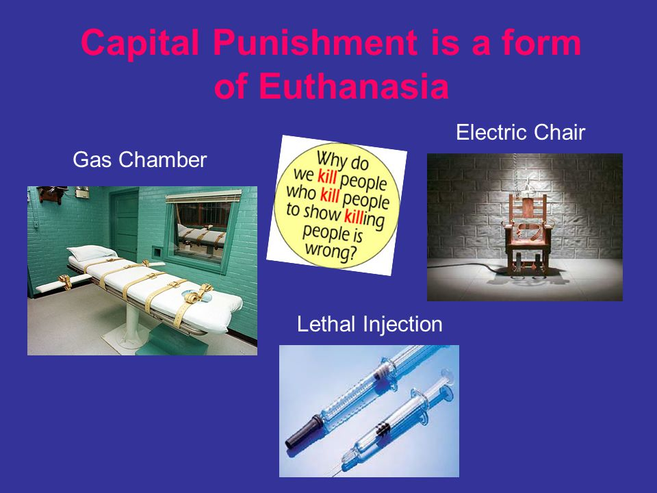 Capital Punishment is a form of Euthanasia