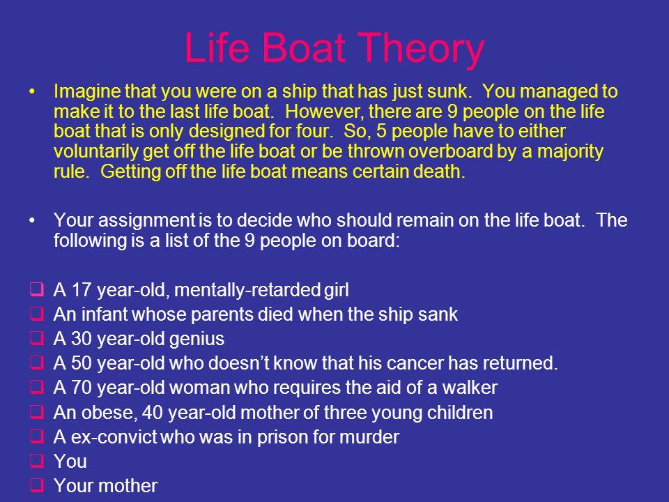 Life Boat Theory
