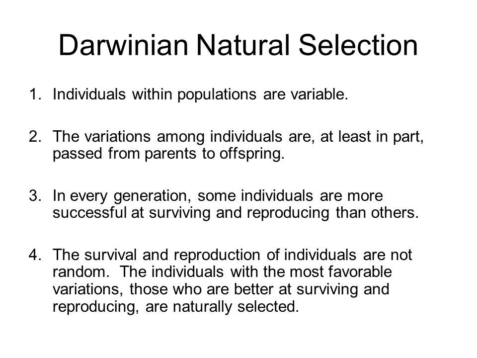 Darwinian Natural Selection