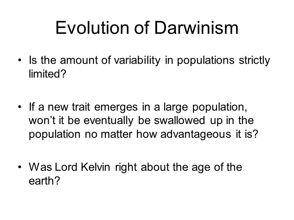 Evolution of Darwinism