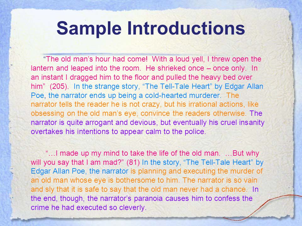Sample Introductions