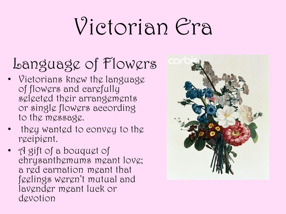 Victorian Era Language of Flowers