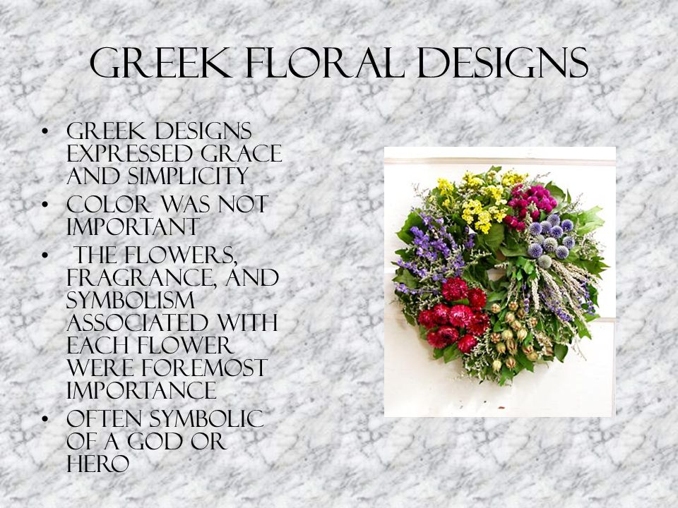 Greek Floral Designs Greek designs expressed grace and simplicity