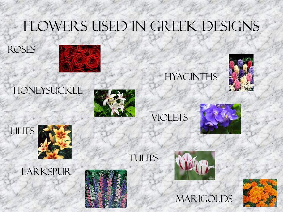 Flowers Used in Greek Designs