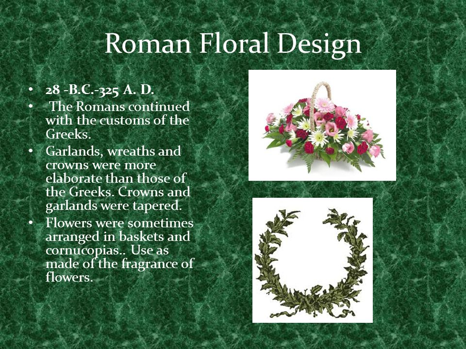 Roman Floral Design 28 -B.C.-325 A. D.