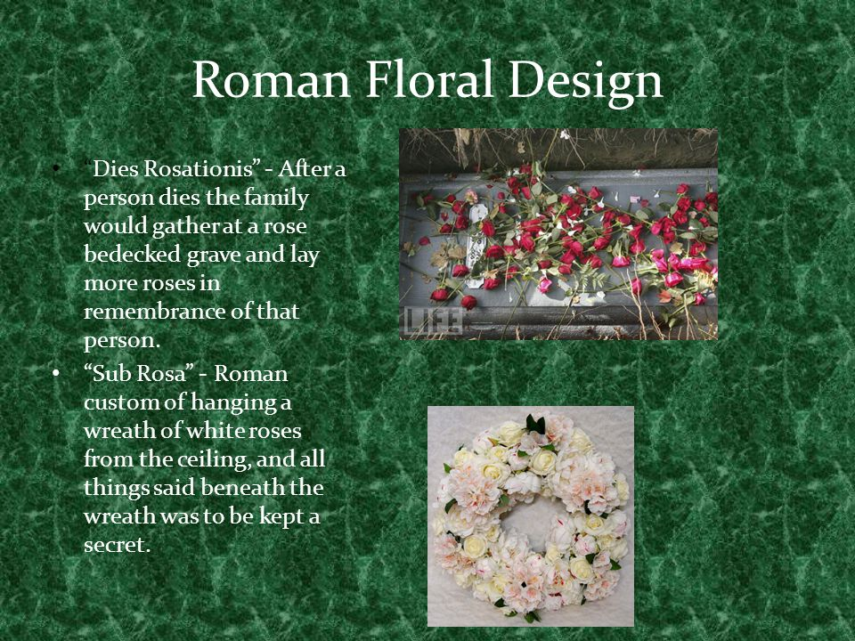 Roman Floral Design