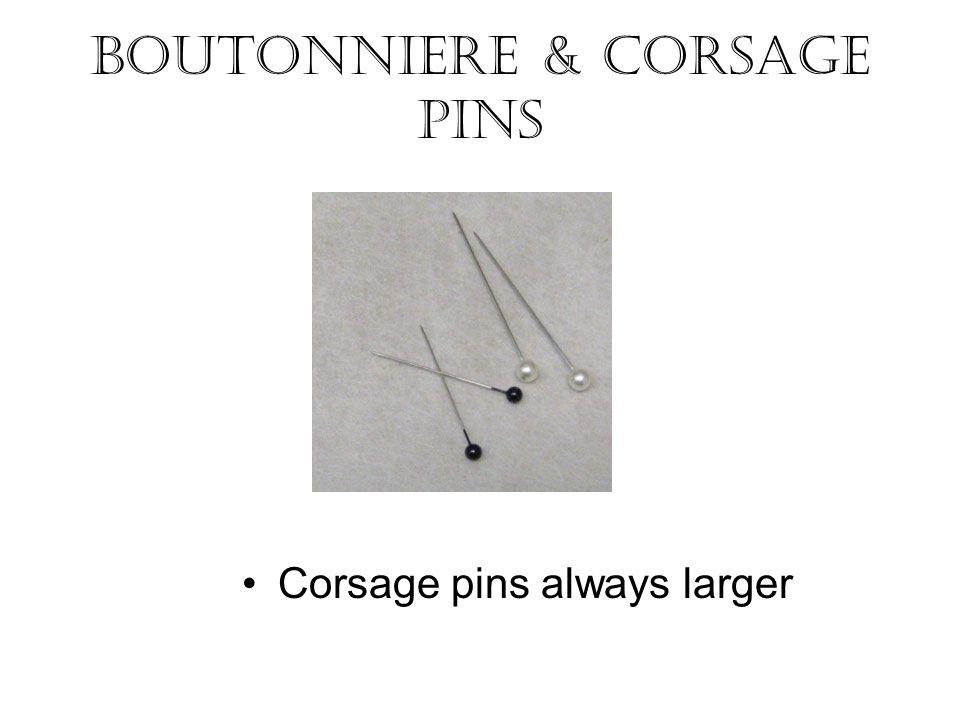 Boutonniere & Corsage Pins