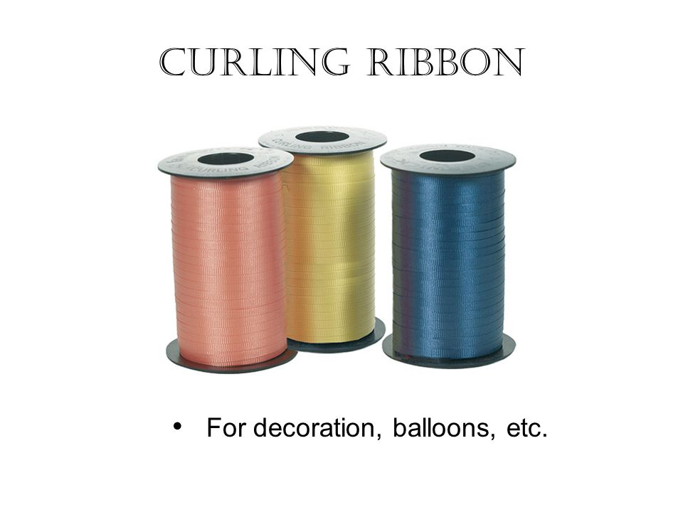 Curling Ribbon For decoration, balloons, etc.
