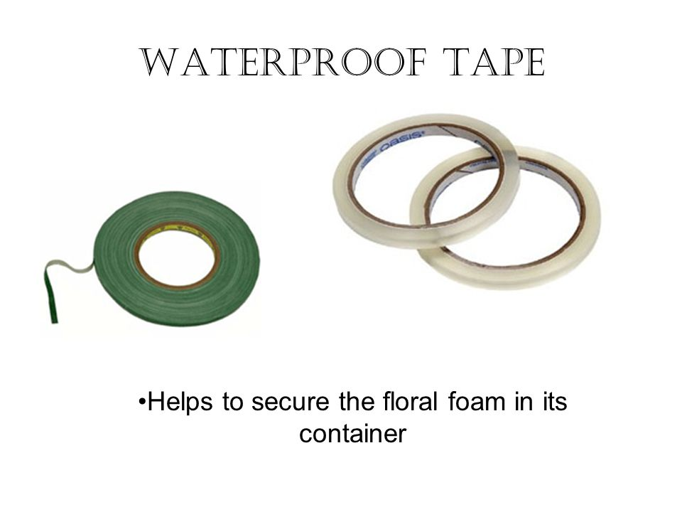 Helps to secure the floral foam in its container