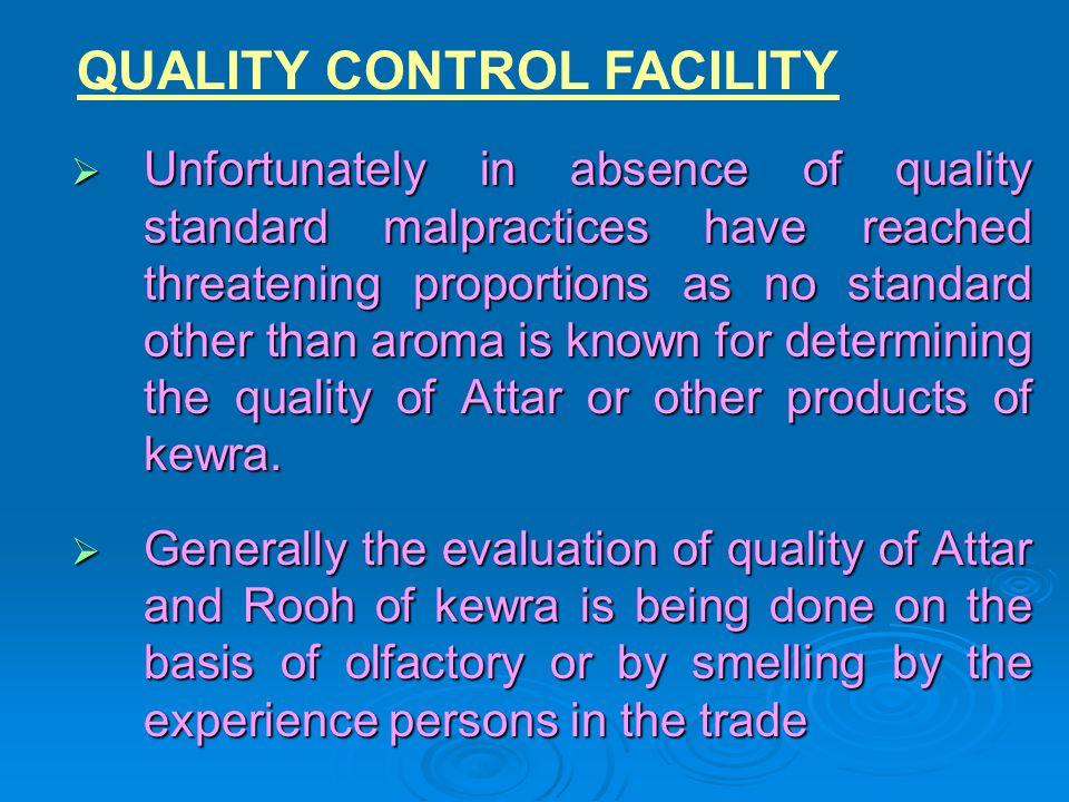 QUALITY CONTROL FACILITY