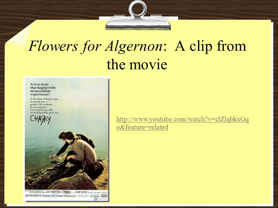 Flowers for Algernon: A clip from the movie