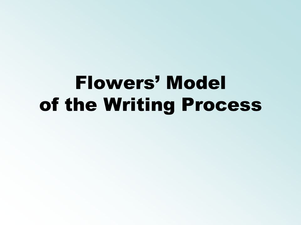 Flowers' Model of the Writing Process