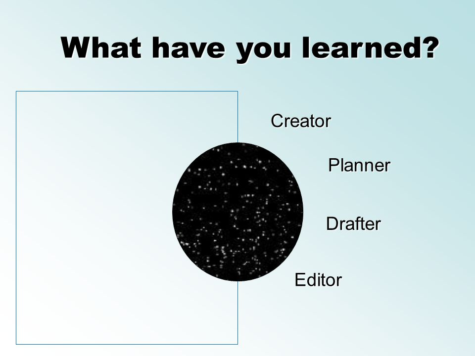 What have you learned Creator Planner Drafter Editor