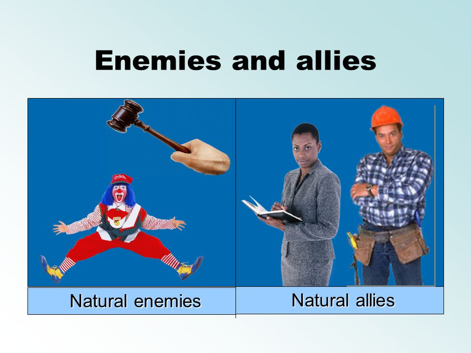 Enemies and allies Natural enemies Natural allies
