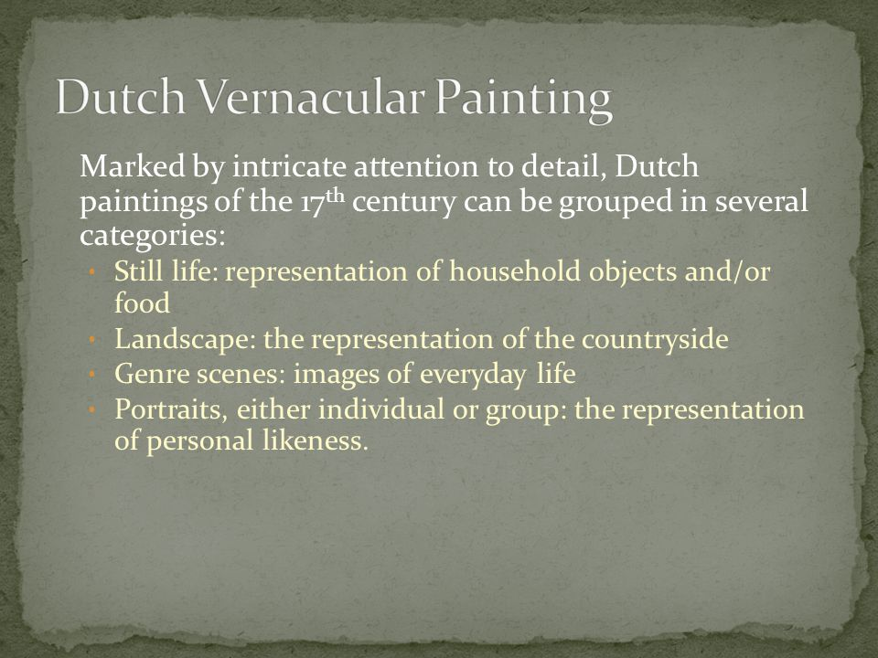 Dutch Vernacular Painting