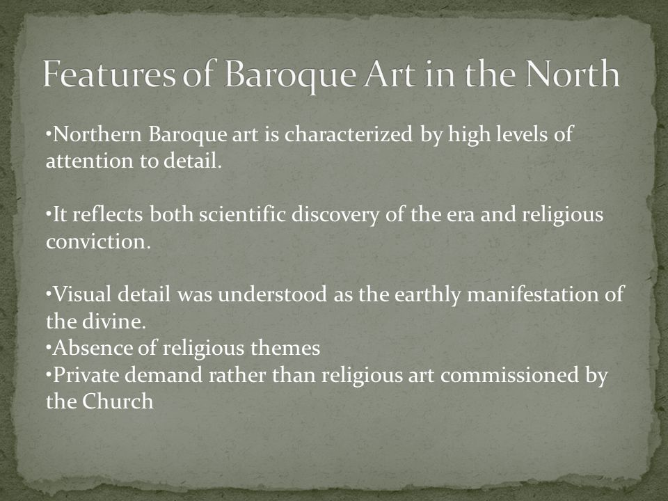 Features of Baroque Art in the North