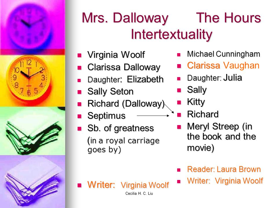 Mrs. Dalloway The Hours Intertextuality