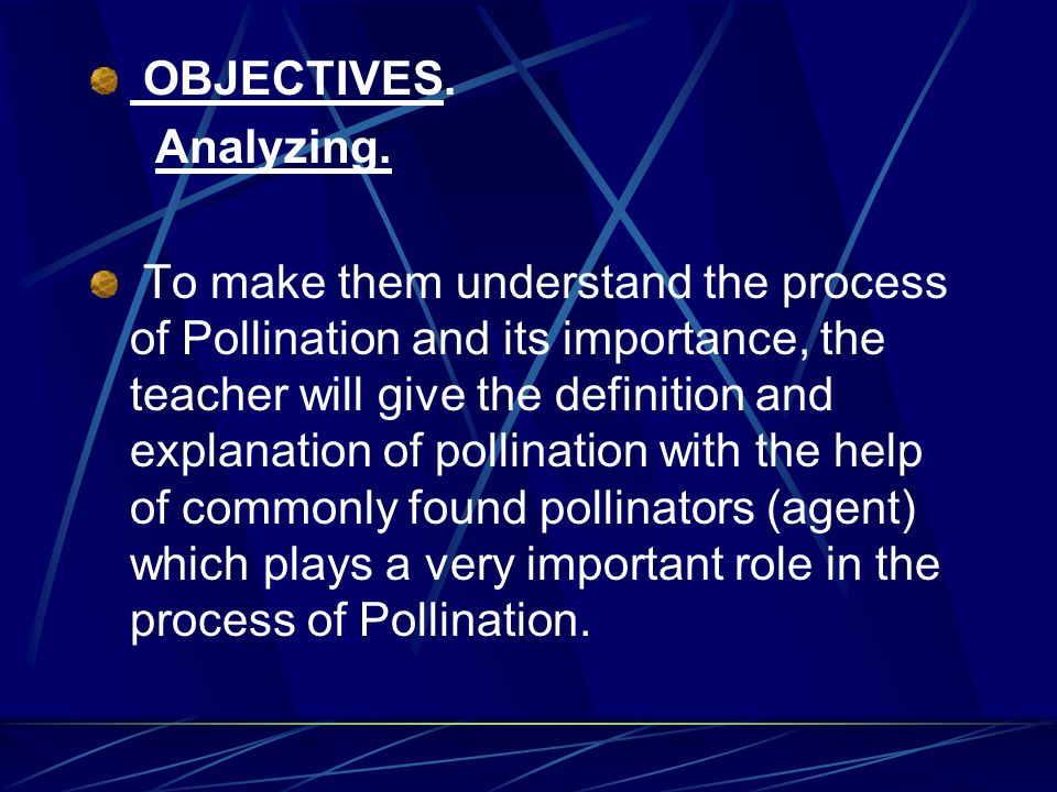 OBJECTIVES. Analyzing.