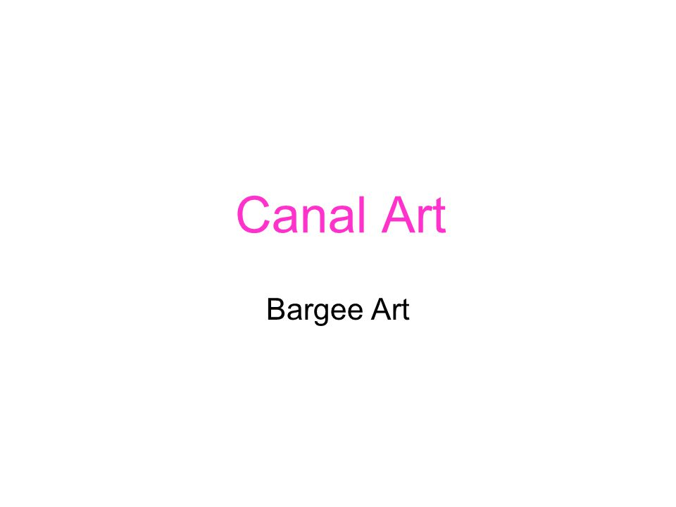Canal Art Bargee Art