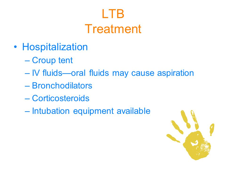 LTB Treatment Hospitalization Croup tent