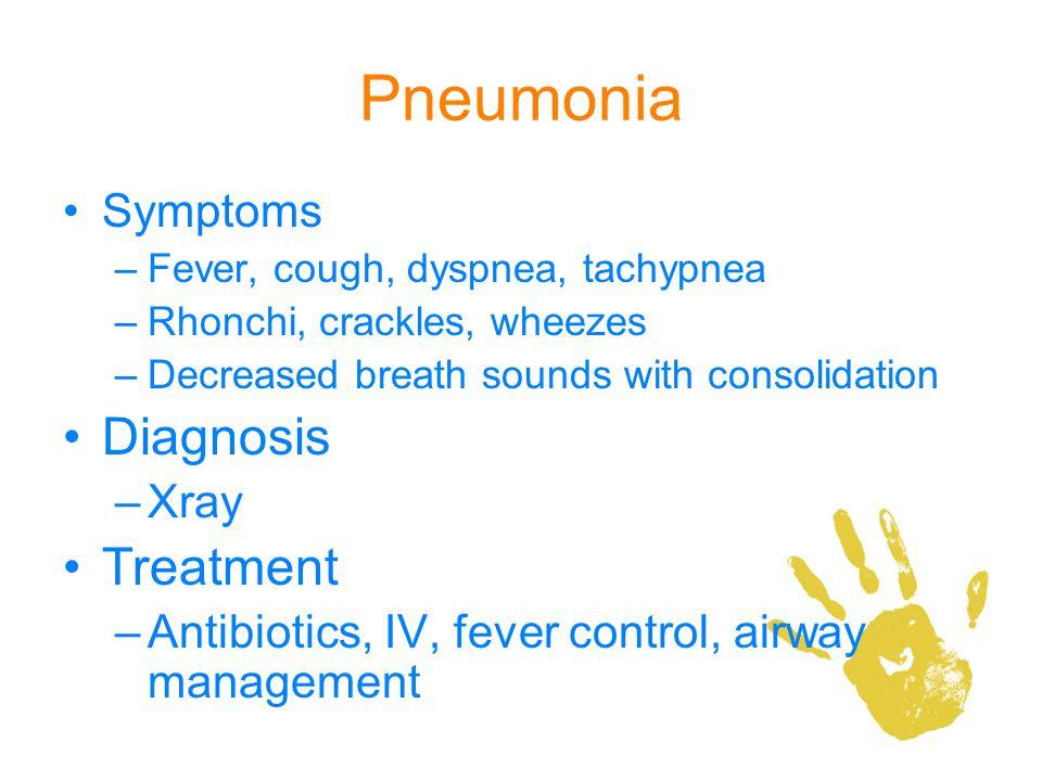 Pneumonia Diagnosis Treatment Symptoms Xray