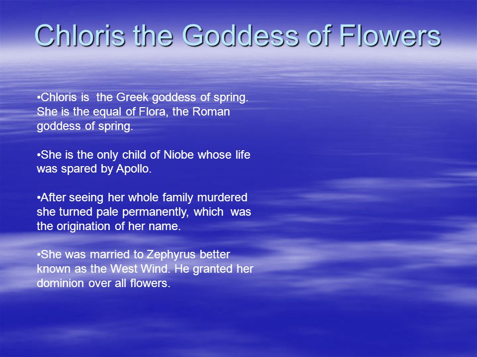 Chloris the Goddess of Flowers