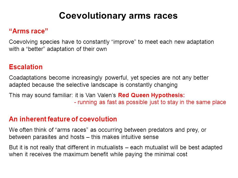 Coevolutionary arms races