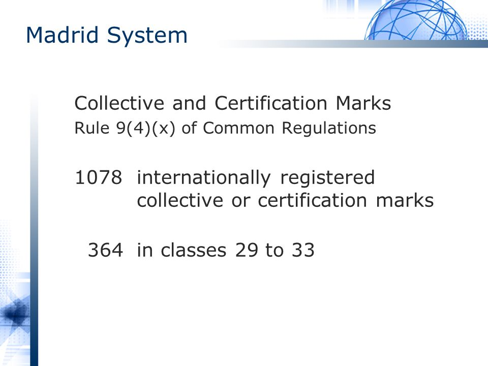 Madrid System Collective and Certification Marks