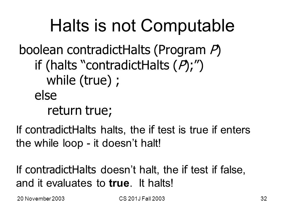 Halts is not Computable