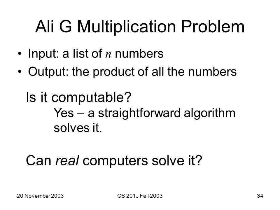Ali G Multiplication Problem