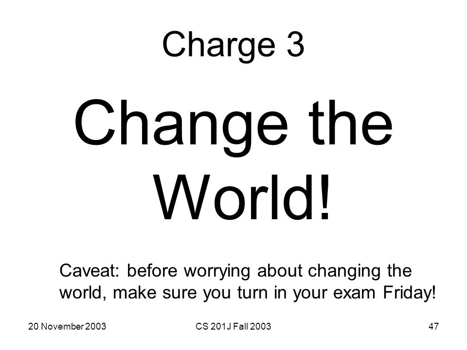 Change the World! Charge 3