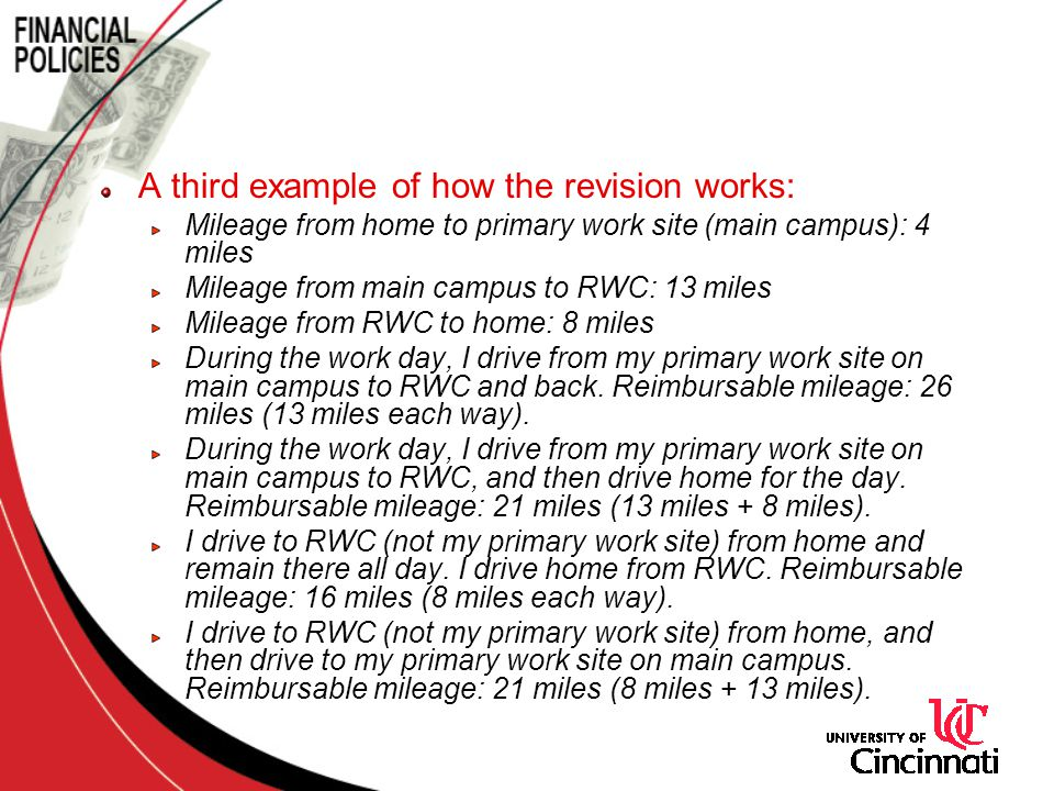 A third example of how the revision works: