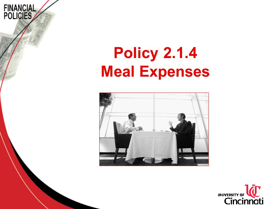 Policy 2.1.4 Meal Expenses