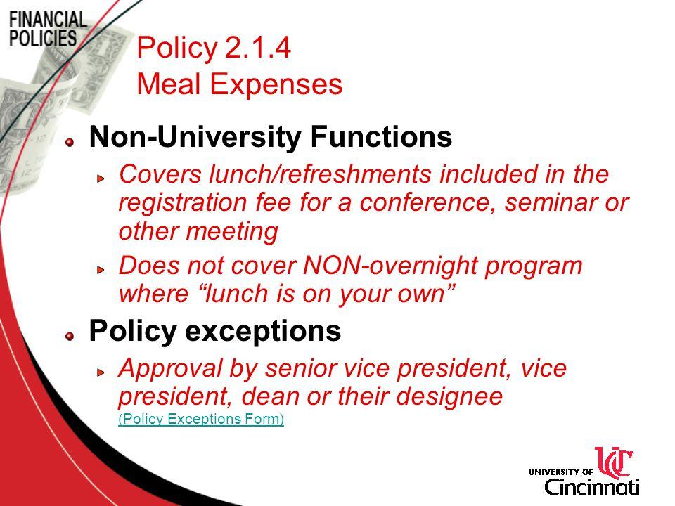 Non-University Functions
